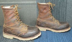 """Thorogood American Heritage 8"""" Trail Crazyhorse Safety Toe Work Boot 10.5 D"""