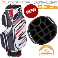 Cobra Ultralight Golf Cart Bag (5.3lbs) 14-WAY Top Navy/Red/White - NEW! 2020