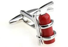 Fire Extinguisher Cufflinks Firefighter Wedding Fancy Gift Box Free Ship USA