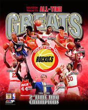 Houston Rockets ALL-TIME GREATS 10 Legends, 2 Championships Premium POSTER Print