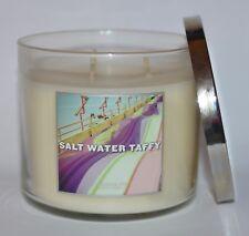 NEW BATH & BODY WORKS SALT WATER TAFFY CANDLE 3 WICK 14.5 OZ LARGE CANDY VANILLA