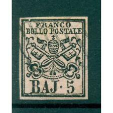 Etats Pontificaux 1852/64 - Y & T. n. 6 - Armoiries 5 baj. (xiv)