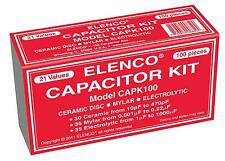 ELENCO CAPK100 CAPACITOR KIT 100 ASSORTED CERAMIC, MYLAR, AND ELECTROLYTIC-FREE