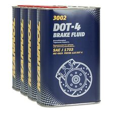 MANNOL Brake Fluid DOT-4 Bremsflüssigkeit SAE J 1703/ ISO 4925, 4x1 Liter