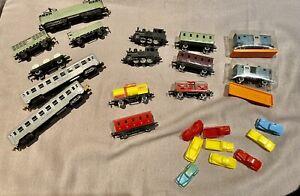 MAJORETTE RAIL ROUTE - Lot important train locomotive wagons voiture   1/143