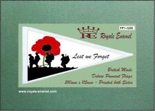 Royale Antenna Scooter Pennant Flag - LEST WE FORGET REMEMBRANCE - FP1.1235