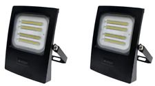 2 x Flood Light LED 50 Watt 4750 Lumens Waterproof 240v Exterior Flood Lights
