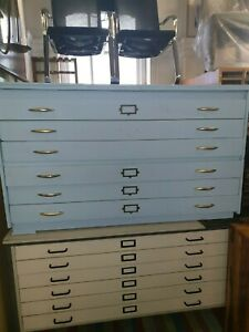 blue 6 drawer A0 plans chest
