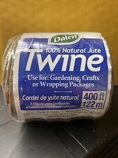 Dalen 100% Natural Jute Twine, 400 ft Roll New Sealed  Fresh