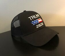 13f7ef26f37 Make America Great Again- Donald Trump Hat 2020 Flag US Black Mesh