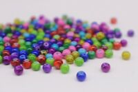 200 pce Colour Mix Round Drawbench Glass Beads 4mm Jewellery Making Craft