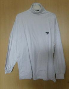 Herren Ski & Freizeit Shirt 100% Baumwolle-Weiß- Rollkragenpullover  gr. 58
