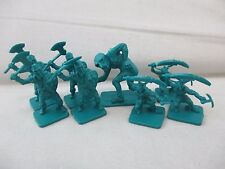 Lot Of 8 DRAGON STRIKE Board Game Replacement Figures Pieces Parts Green Teal