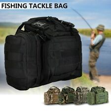 Waterproof Canvas Fishing Tackle Bag Pack Waist Shoulder Lure Rod Storage Pack