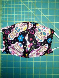 Adults face mask Sugar Skull Day Of The Dead Dia de Muertos cotton washable