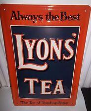 LYON'S TEA- BEST,  EMBOSSED(3D) METAL ADVERTISING SIGN 30X20cm KITCHEN / CAFE