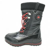 NWOB Cougar Como 2 Lined Winter Boots Size 7 M Women's, Black & Red lace up