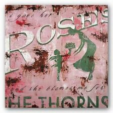 RETRO ABSTRACT ART PRINT I Gave Her Roses Rodney White