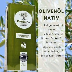 5,1 €/Liter Olivenöl 5 Liter Kanister Nativ-Virgin aus Kreta,Ernte 2020,MHD05/22