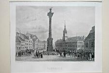 VARSOVIE Pologne GRAVURE Rouargue Warszawa XIX°