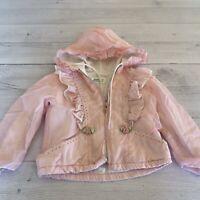 Vintage Tiny Tots 1980s Pink Windbreaker Jacket Size 24 Months