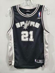 VTG Reebok NBA San Antonio Spurs Tim Duncan 21 Swingman Jersey Youth L Sewn