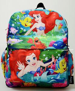 "Disney Purse Backpack The Little Mermaid Ariel Mini 12"" Bag All Over Art Print"
