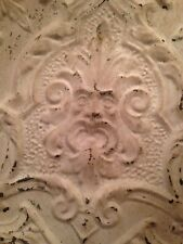 24� x 24� Antique Ceiling Tin Tile with Green Man Face Very Rare