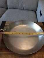 """Bridge Kitchenware Hammered Copper Round Pan brass Vintage 12.5"""" Made in France"""