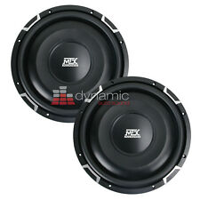"""2 MTX FPR12-04 Car 12"""" Flat Piston Shallow Subs SVC 4 Ohm Subwoofers 1,600W New"""