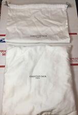 Christian Dior White Drawstring dust bag & Cushion