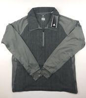 Adidas Womens 2XL Ash Heather Performer Baseline 1/4 Zip Pullover Jacket NWT $60