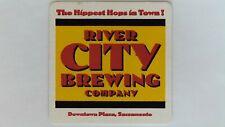 River City Brewing Company Beer Coaster, Sacramento, CA