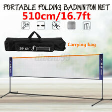 16.7Ft Height Adjustable Badminton Tennis Volleyball Net Stand Multi-Purpose