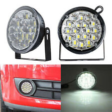 2pcs 12V 18LED DRL Round Car Fog Lamp Driving Daytime Running Light Bright White