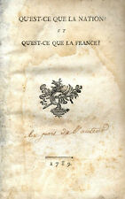 Toussaint Guiraudet: QU'EST-CE QUE LA NATION ? et QU'EST-CE QUE LA FRANCE ? 1789