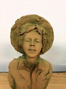 Gianni Visentin scultura terracotta mezzo busto certificato di origine