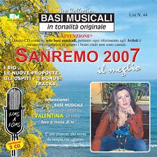 """BASI MUSICALI """"SANREMO 2007"""" VOL.44 (2CD)"""