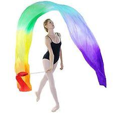 Danzcue Dance Silk Worship Gym Rhythmic Art Ballet Rainbow Flower Streamer