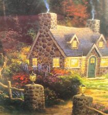 Thomas Kinkade Puzzle Pine Cove Cottage 750 Pieces Circle Round Country Fairy