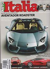 AUTO ITALIA UK MAGAZINE MAY 2013, AVENTADOR ROADSTER, 2013 FERRARI 'LAFERRARI'.