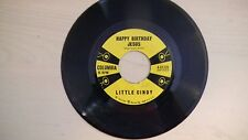 Vintage Columbia Records HAPPY BIRTHDAY JESUS by Little Cindy 45RPM 60s