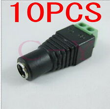 10pcs DC 5.5 x 2.1mm Power Female Jack Adapter Cable Plug Connector for CCTV