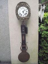 Hermosa, Antiguo Comtoise __ Latón __ Reloj de Péndulo __