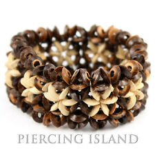 Hippie Goa Kokosnuss Perlen Beads Holz Armband B026