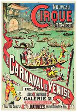 VINTAGE ITALY POSTER: Carnival of Venice LE CARNAVAL DE VENISE Italian Art Print