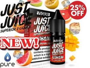 Just Juice Nic Salt E Liquid Vape Oils Fusion Full Range 10ml 5mg 11mg 20mg
