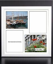 CreativePF 4 Opening Multi 8x10 White Picture Frame w/ 20x20 White Collage Mat