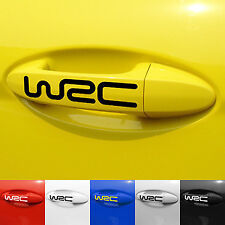 4 pcs Black WRC Car Door Handle Sticker Graphics Decal Emblem US Seller