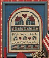 ✔️ USA July 4th Patriotic Prize Liberty Love Country Sampler Cross Stitch Chart